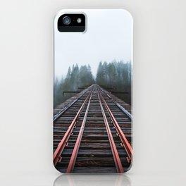 Abandoned Railroad Vance Creek Bridge - Olympic National Park, Washington iPhone Case