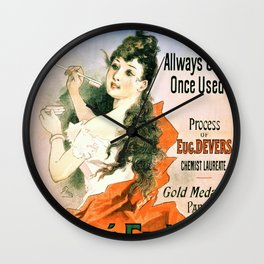 Jules Cheret - Glycerine tooth paste, Gelle Freres perfumers - Digital Remastered Edition Wall Clock