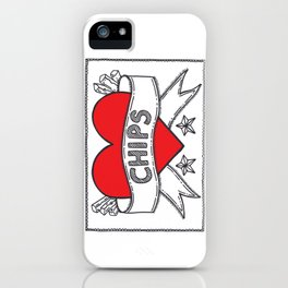 I Heart Chips iPhone Case