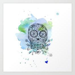 Colorful Calaverita Art Print