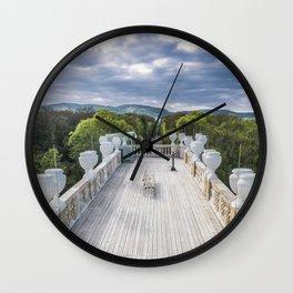 The bench Schönbrunn Palace Vienna Austria Wall Clock