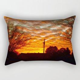 Pretty Florida Fiery Sunset Rectangular Pillow