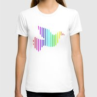 techno T-shirts featuring Techno Pigeon by JG Designs
