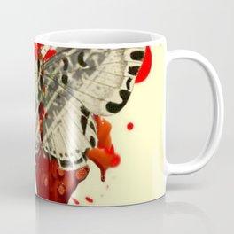 SURREAL BLEEDING VAMPIRE BUTTERFLY ROADKILL Coffee Mug