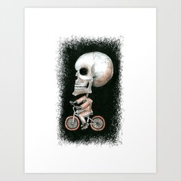 Cycle Skully Art Print