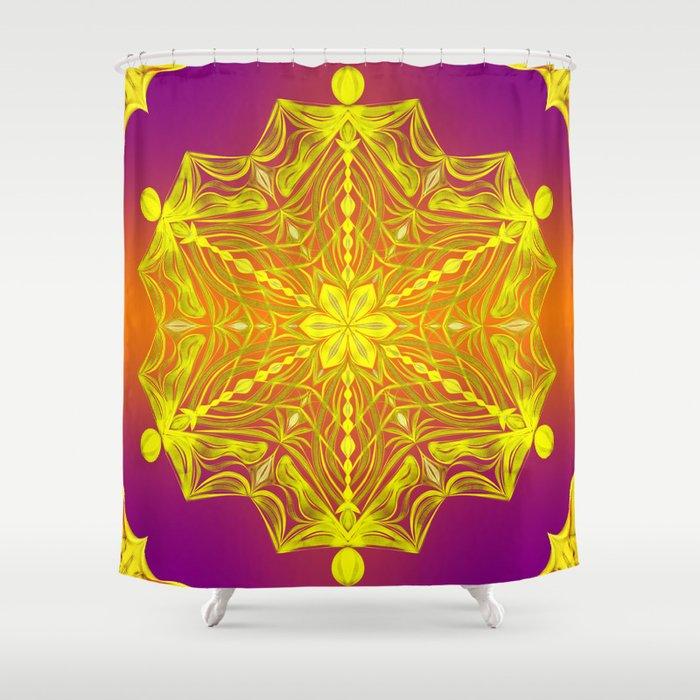 Snowflake Sunset Shower Curtain