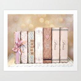 Paris Dream Love Books Print Art Print