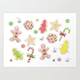 Holiday Treats Art Print