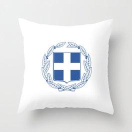 Coast of arms of Greece Throw Pillow