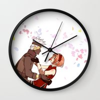 kakashi Wall Clocks featuring Fleeting Beauty by Pamianime