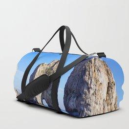 Faraglioni Rocks of the coast of the island of Capri, Italy Duffle Bag
