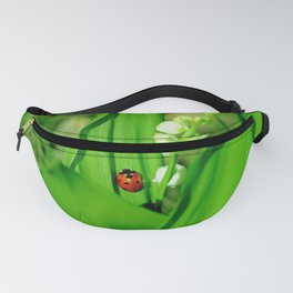 The Ladybug and Lily of the valley Fanny Pack