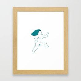 Fierce Nude Framed Art Print