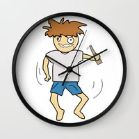drunk Wall Clocks featuring Drunk by justang8