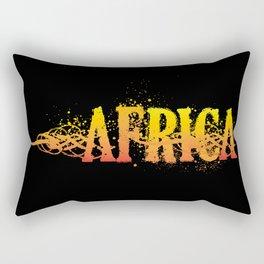 Africa blk Rectangular Pillow