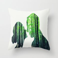 Forest Lovers Throw Pillow