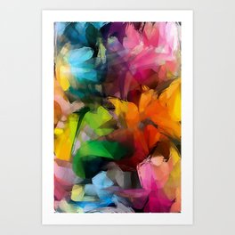Dancing Rainbow Feathers Art Print