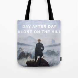 The Wanderer on the Hill Tote Bag