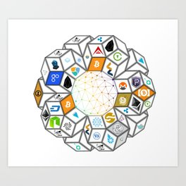 The Blockchain Art Print