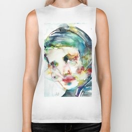 AYN RAND - watercolor portrait Biker Tank