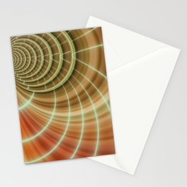 Fractal orange Stationery Cards