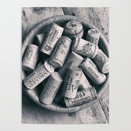 Collection of Corks. Poster