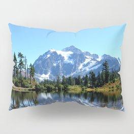 Mount Shuksan reflected on Picture Lake Pillow Sham