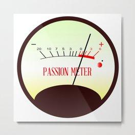 Red Hot Passion Meter Metal Print