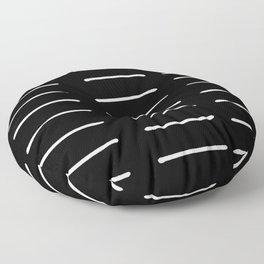 Organic / Black Floor Pillow