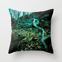 snake Throw Pillows featuring Snake by Terrestre