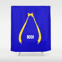 sailor moon Shower Curtains featuring Sailor Moon by Michi Donaho