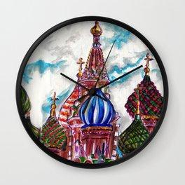 Moscow Saint Basil: Russian Series 2017 Wall Clock