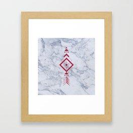Marble with arrow Framed Art Print