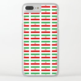 flag of iran 2- Persia, Iranian,persian, Tehran,Mashhad,Zoroaster. Clear iPhone Case