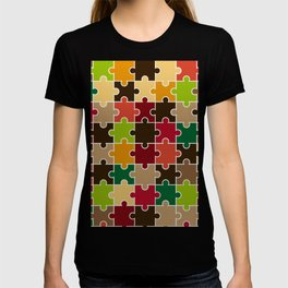 Autumn Colored Jigsaw Puzzle T-shirt