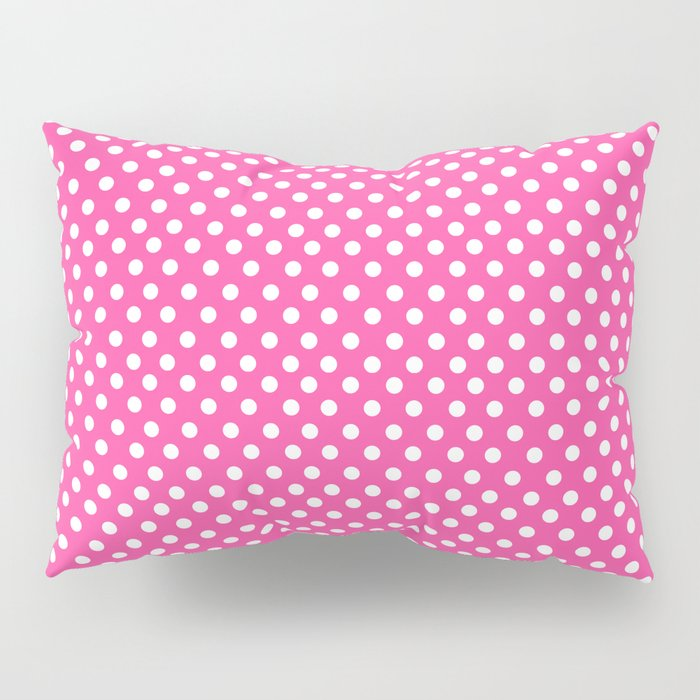 Pink & White Polka Dots Pillow Sham