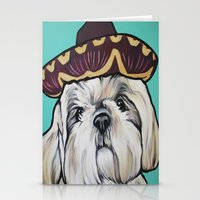 shih tzu Stationery Cards featuring Mimosa the Shih Tzu by Cheney Beshara
