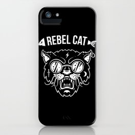 Rebel cat iPhone Case