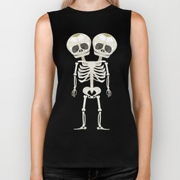 Siamese Twins Skeleton Biker Tank