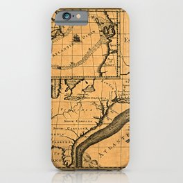 Map Of The Gulf Stream 1786 iPhone Case