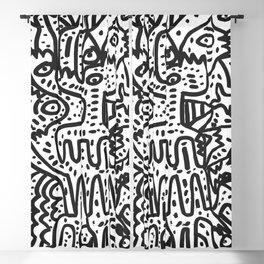 The cool  king Black and white Street Art Graffiti Blackout Curtain