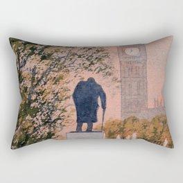 Churchill And Big Ben Rectangular Pillow