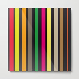 bold stripes and color Metal Print