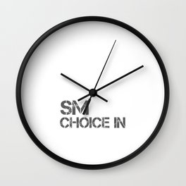 Make Smart Choice In Your Life Slice Of Life Goals Achievement Motivation Inspirational Statement Wall Clock