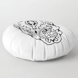 Mexican Skull Triskele Celtic Cross Tattoo Floor Pillow