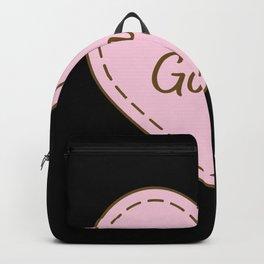 I Love Gongs Simple Heart Design Backpack
