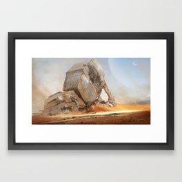 Destroyed ATAT Framed Art Print