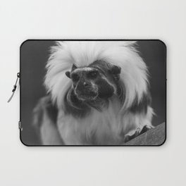 tamarin with a crown of cotton Laptop Sleeve