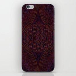 'Nirvana's Within' Burgundy Purple Red Gold Bohemian Design iPhone Skin