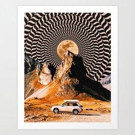 Illusionary Car Trip Art Print